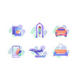 in airport icons vector image