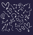ink doodle arrows handwriting scribble sketch vector image vector image