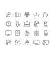 Line Office Icons vector image vector image