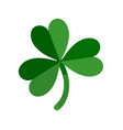 lucky green shamrock three leaf clover for st vector image