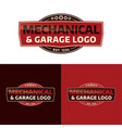 mechanical and garage logo vector image