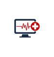 Medical computer logo icon design