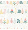modern christmas tree seamless design vector image