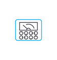 monitoring of indicators linear icon concept vector image vector image