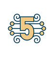 number 5 sign vector image vector image