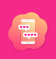 online dating app and chat icon vector image vector image