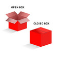 open and closed box vector image