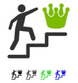 person steps to crown flat icon vector image vector image