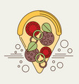 pizza slice icon flat vector image