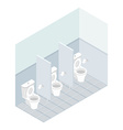 Public toilet isometrics Interior overall restroom vector image vector image