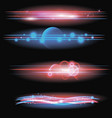 realistic 3d detailed light flares set vector image vector image