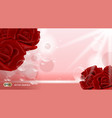 red rose flowers fragrance for ads dazzling vector image vector image