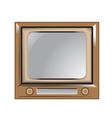 retro vintage old television vector image vector image