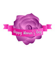 rose with a ribbon happy women day vector image vector image