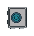 safe box flat isolated icon vector image vector image