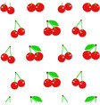 seamless pattern with cherries vector image
