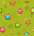 seamless pattern with colorful cartoon stars vector image