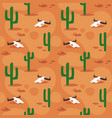 seamless pattern with desert surface vector image vector image