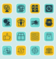 set of 16 ecommerce icons includes finance vector image vector image