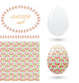 set of easter ornaments and decorative elements vector image