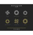 Set of elegant monogram Emblem design vector image