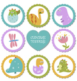 Set of tags with dinosaurs theme vector image