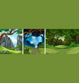 set of tropical rainforest background vector image vector image
