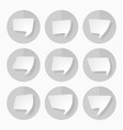 set of white paper speech bubbles vector image