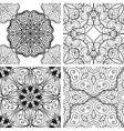 set patterns with circle ornament vector image