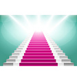staircase with pink carpet Large resolution 3d vector image vector image