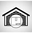 storage building cardboard box delivery icon vector image