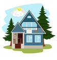 summer country house vector image vector image