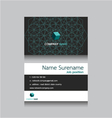 technology business name card vector image vector image
