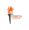 torch vector image vector image