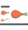 turkey leg line icon vector image vector image