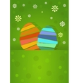 two nice easter egg vector image vector image