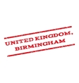 United Kingdom Birmingham Watermark Stamp vector image vector image