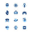 virtual reality - set flat design style icons vector image vector image