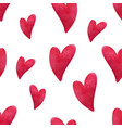 watercolor heart pattern hand painted hearts on vector image vector image