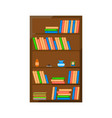 wooden books cabinet icon vector image vector image