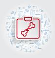 x-ray icon on handdrawn healthcare vector image