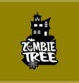 zombie party typography design vector image