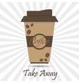 coffee take away vector image