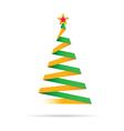 christmas tree with star vector image