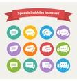 white speech bubble icons vector image