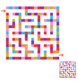 abstract colored square maze an interesting game vector image