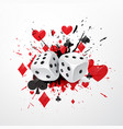 abstract dice background with splatter and vector image