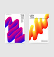 abstract poster background fluid shapes brochure vector image