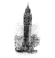 Albert Memorial Clock engraving vector image vector image