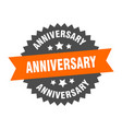 anniversary sign anniversary orange-black vector image vector image